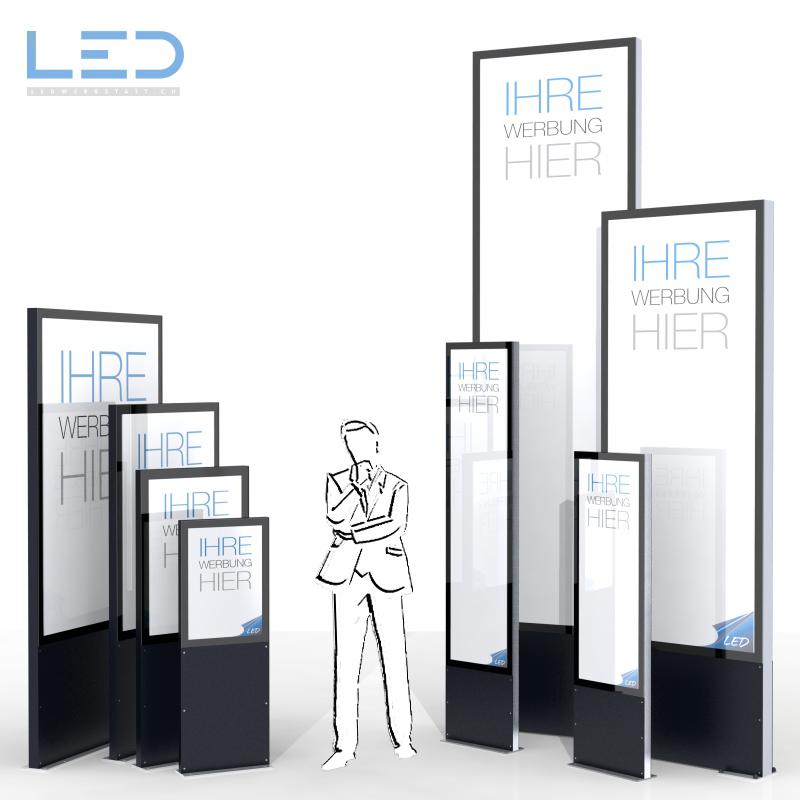 LED Leuchtreklamen, LED Pylonen, Leuchtreklame, Totem, Firmenbeschriftung, Leuchkasten