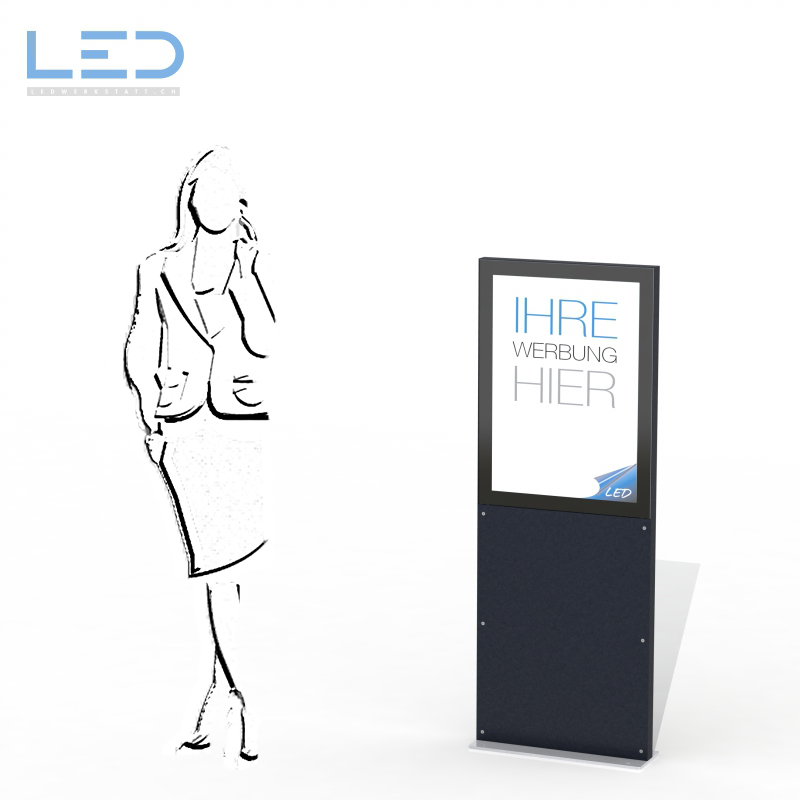 LED Leuchtreklame A1, LED Pylone, Totem, Leuchtpylon, Reklametafel, Reklametafel Swissmade