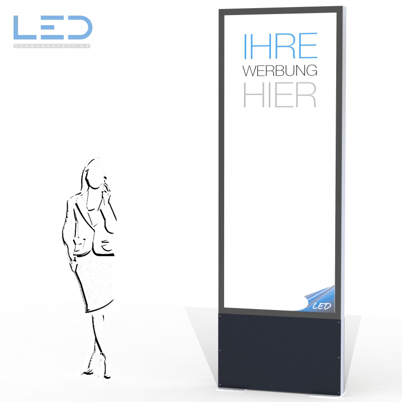 LED Leuchtreklame 3 x 1 m, LED Pylone, Leuchtkasten, Leuchtreklame, Totem, Swissmade