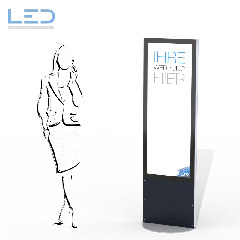 LED Leuchtreklame 2 x A2, LED Pylone, Totem, Leuchtpylon, Reklametafel, Reklametafel Swissmade
