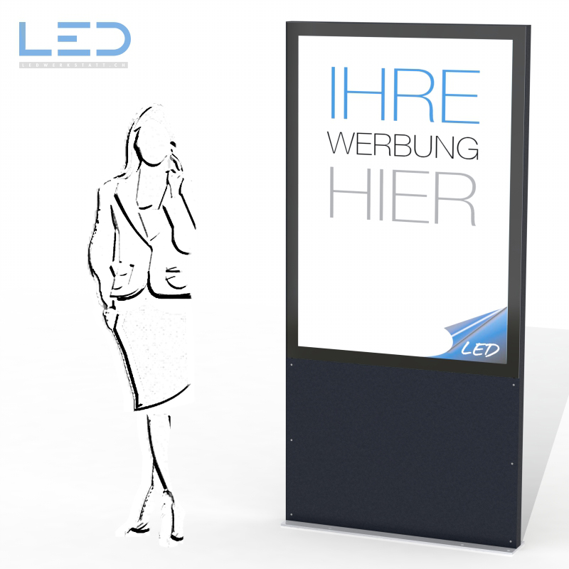 LED Leuchtreklame A0, LED Pylone, Leuchtkasten, Leuchtschild, Reklame, Totem, Swissmade